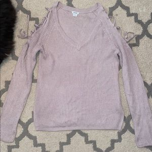 Garage sweater with laced shoulders XS worn once